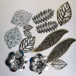 Metal Leaves Embellishment Set