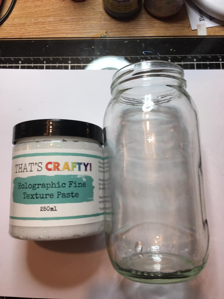 Jar and texture paste