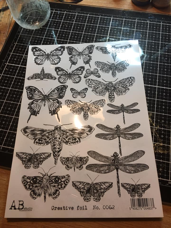 Acetate Sheet with printed butterflies