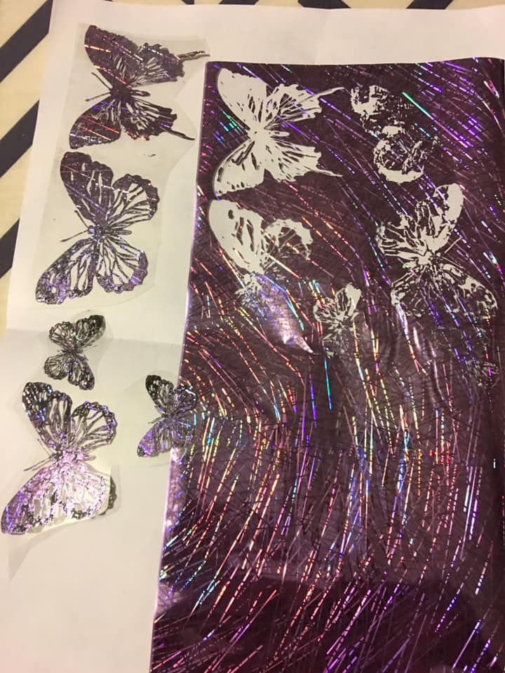 Foil fused butterflies