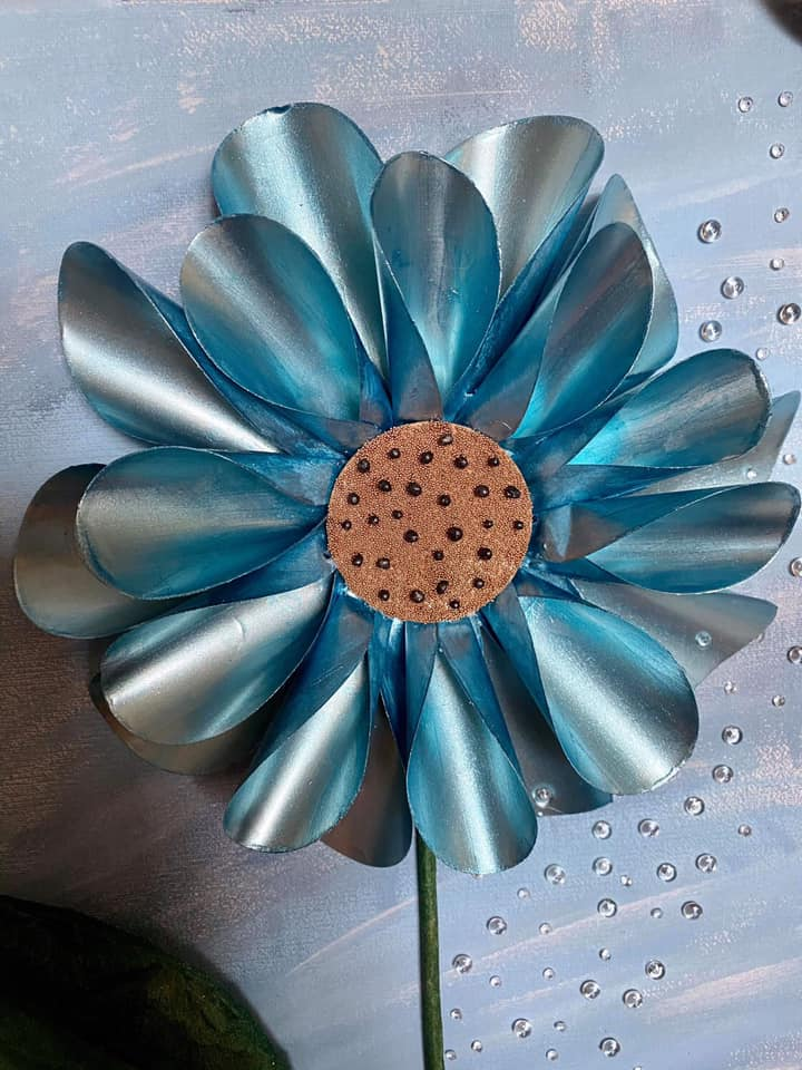 Tin Can Flower By Stuart