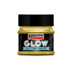 Gold Glow In The Dark Glitter Paste
